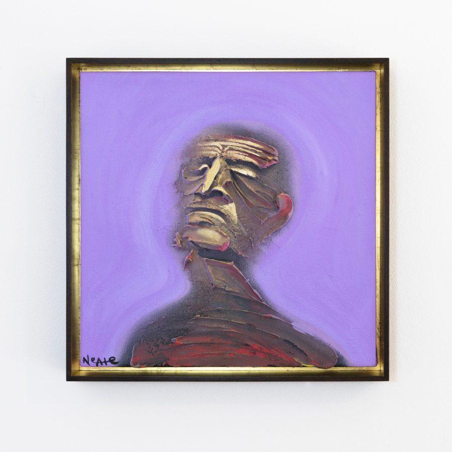 Adam Neate Painting Walnut Tray Frame