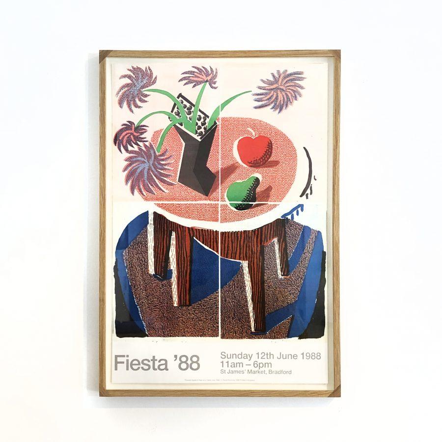 David Hockney Oak Frame