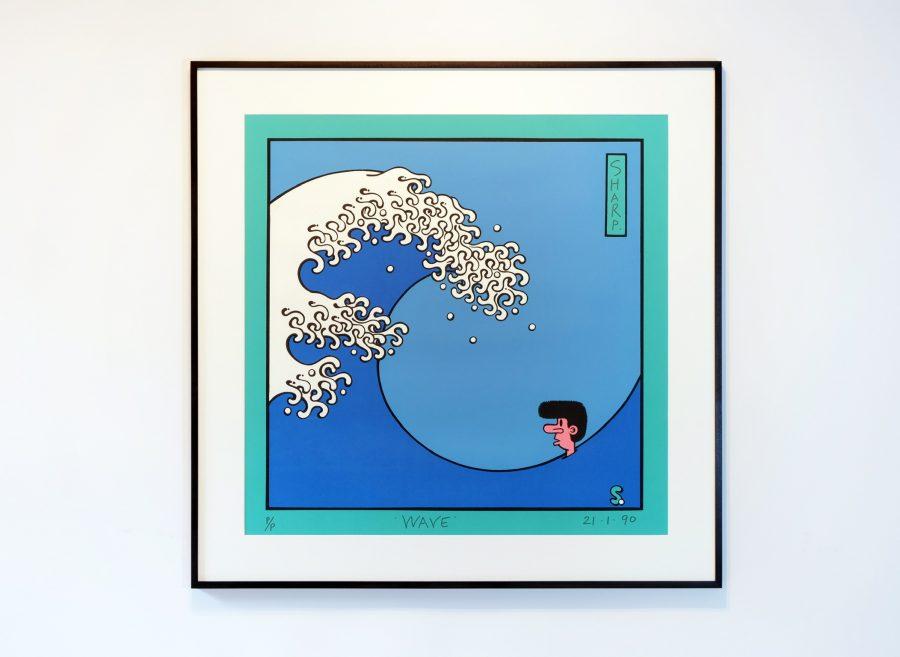 Martin Sharp, Wave, Screen Print, 1990.